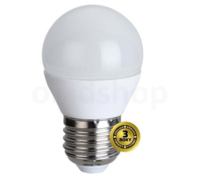 Solight LED žiarovka, miniglobe, 6W, E27, 4000K, 420lm